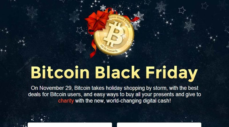 Illustration for article titled Bitcoin Black Friday Lists Sales and Discounts for Bitcoin Purchases