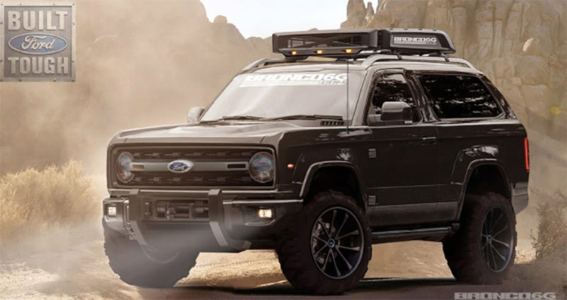 Illustration for article titled Is This What The New Ford Bronco Will Look Like?