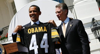 Illustration for article titled Obama's Two Favorite Things Are The Steelers, Making Children Cry