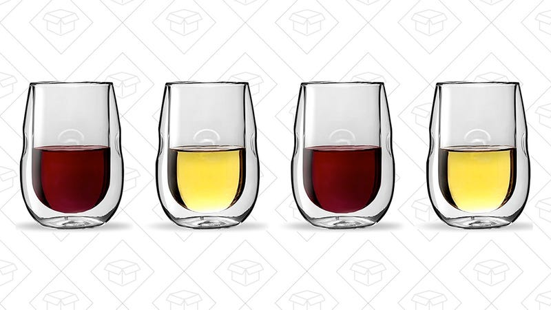 Moderna Artisan Series Double Wall Insulated Wine Glasses | $24 | Amazon