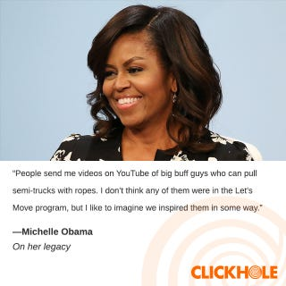 Illustration for article titled Michelle Obama Said WHAT?!