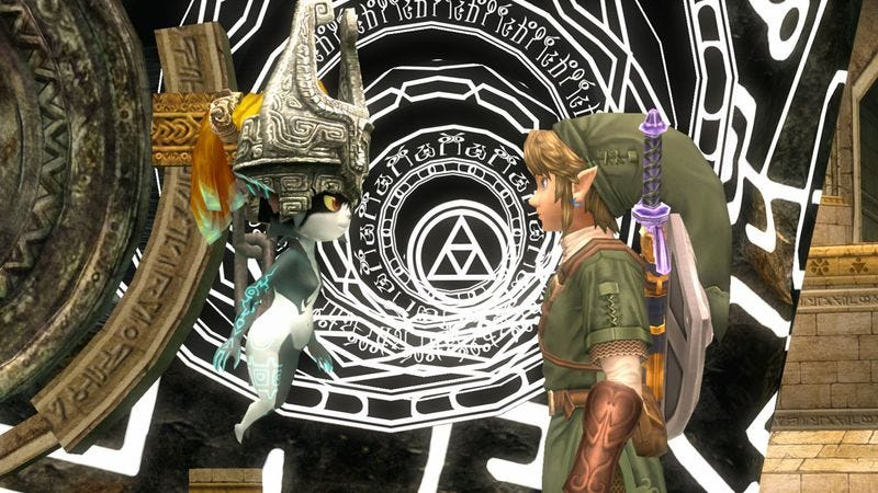 Link and his companion Midna in a still from The Legend Of Zelda: Twilight Princess HD
