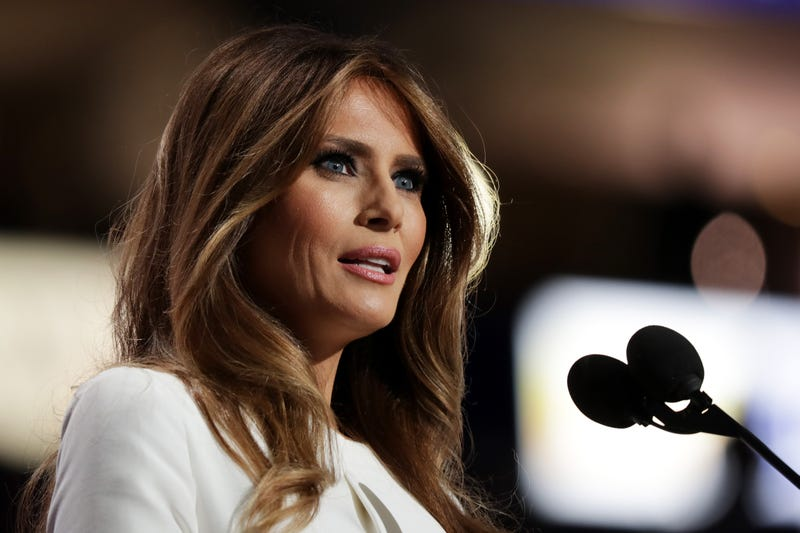 Melania Trump, wife of Republican presidential nominee Donald Trump, delivers a speech on the first day of the Republican National Convention at the Quicken Loans Arena in Cleveland on July 18, 2016.Chip Somodevilla/Getty Images