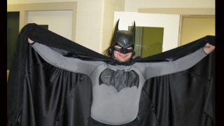 """Illustration for article titled """"Batman"""" arrested on roof in Michigan"""