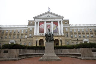 An outside view of Bascom Hall on the University of Wisconsin-Madison campus Oct. 12, 2013 (Mike McGinnis/Getty Images)