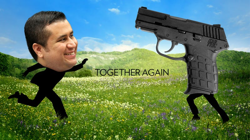 Illustration for article titled George Zimmerman To Have Touching Reunion With His Gun