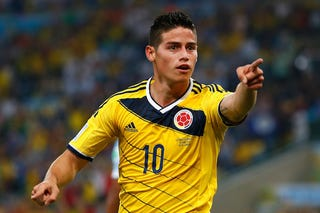 Illustration for article titled No One Wants To Play Colombia, Because James Rodríguez Is Unstoppable