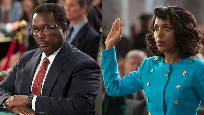 Wendell Pierce as Clarence Thomas and Kerry Washington as Anita Hill in Confirmation