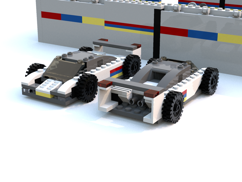 Illustration for article titled When I'm bored, I build racecars out of virtual Lego bricks