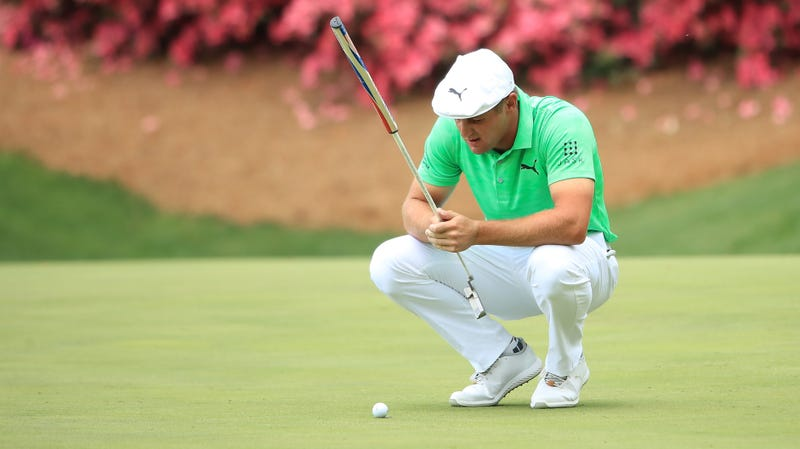 Illustration for article titled Bryson DeChambeau Foiled By Dumbass Stupid Flagstick And Dumbass Stupid Hole