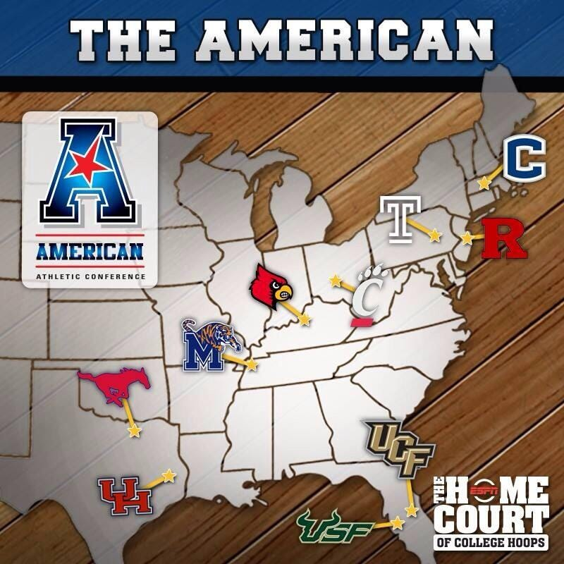 Illustration for article titled 9 Out Of 10 Schools On This ESPN Map Are In The Wrong Place