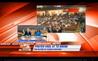 The city of Charleston held a prayer vigil Friday night in honor of the nine shooting victims killed at Emanuel AME ChurchWCSC-TV Screenshot