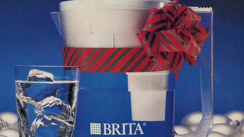 Illustration for article titled 12 Days of Christmas Presents Past: Here--Have a Brita Filtration Pitcher