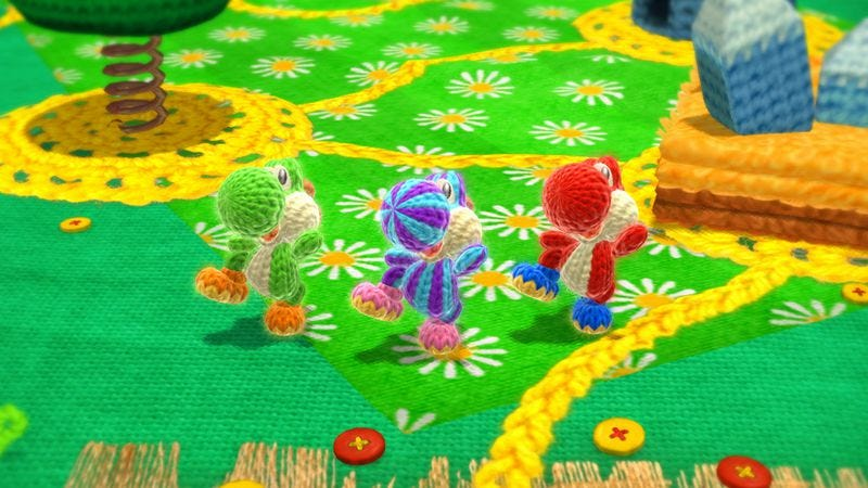It's the crafty details that make Yoshi's Woolly World a knitter's delight