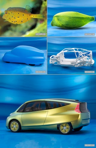 "Illustration for article titled Mercedes To Exhibit Fishy ""Bionic Car"" Concept From 2005 At NY MoMA"
