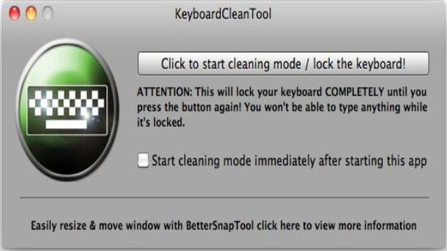 keyboardclean tool locks your mac keyboard while cleaning spills and crumbs. Black Bedroom Furniture Sets. Home Design Ideas