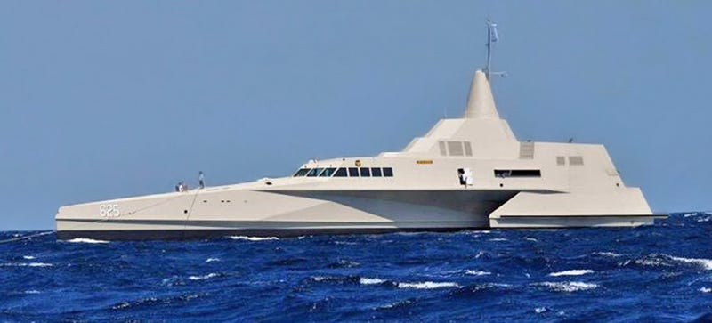 Illustration for article titled Dear US Navy: The Futuristic X3K Is What Littoral Combat Ships Should Be