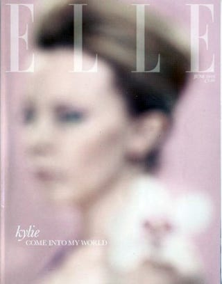 Illustration for article titled June 2010 Cover Of Elle UK Is Both Blurred And Beautiful