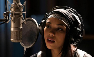 Alexandra Shipp as Aaliyah in the Lifetime biopic Aaliyah: The Princess of R&BLifetime