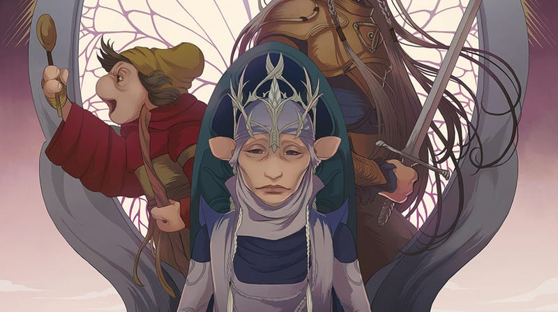A section of the cover for Jim Henson's The Dark Crystal: Age of Resistance comic book.