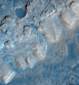 Illustration for article titled New Images Show An Ancient Lake Bed On Mars