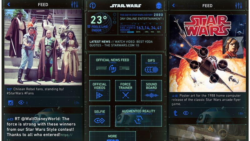 There's Finally an Official Star Wars App To Feed Your Obsession 24/7