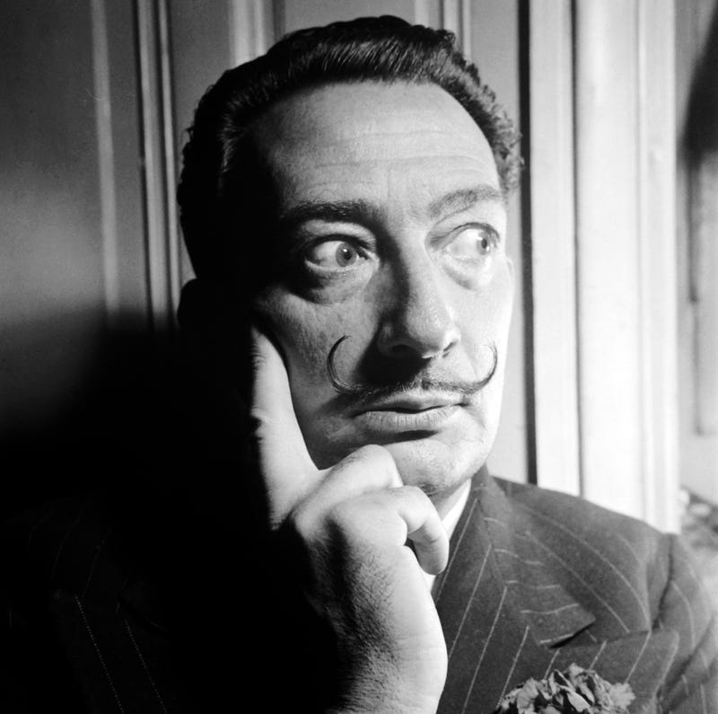 El pintor Salvador Dalí. Getty Images.