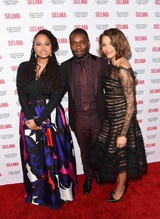 Ava DuVernay, David Oyelowo and Carmen Ejogo attend the Selma and the Legends Who Paved the Way Gala at Bacara Resort on Dec. 6, 2014, in Goleta, Calif. Jason Merritt/Getty Images