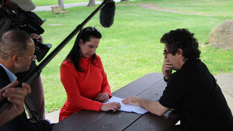Angela Clemente and Joe Berlinger (Photo: Spike TV)