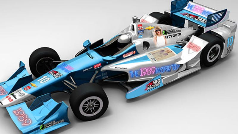 Illustration for article titled Taylor Swift, The Mario Andretti Of Singing, Will Be On An IndyCar