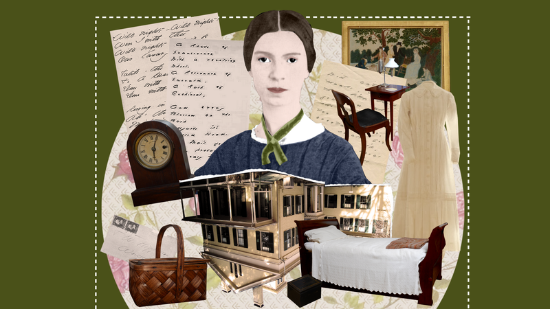 Photo Illustration by Elena Scotti/Jezebel/GMG, photos via Michael Medeiros/Emily Dickinson Museum.
