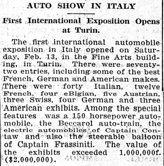 Illustration for article titled Italian Auto Show boasts $2M worth of inventory