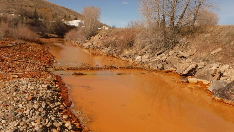 A polluted Belt Creek in Montana. Photo via AP.