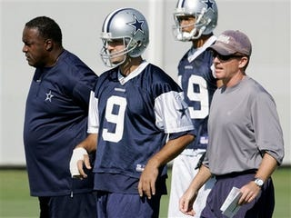 Illustration for article titled Breaking News! Tony Romo Stands Around Watching Practice, Terrible Concerts