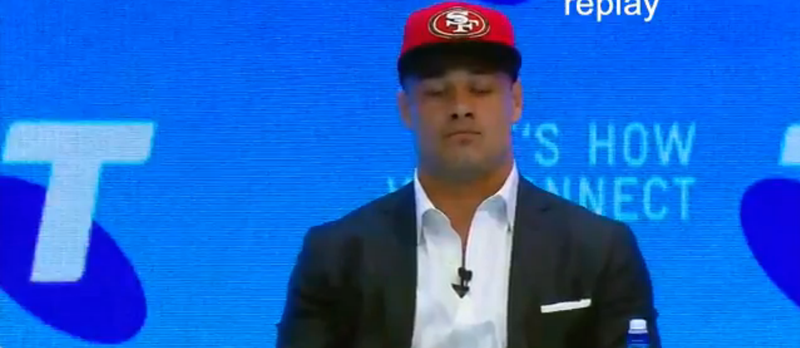 Illustration for article titled Rugby League Superstar Jarryd Hayne Signs Futures Contract With 49ers