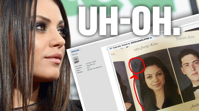 Illustration for article titled Why You Don't Post Your Picture Of Mila Kunis In Your High School Yearbook To An Internet Forum