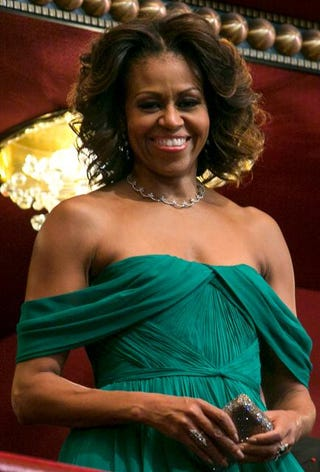 First lady Michelle Obama attends the 2013 Kennedy Center Honors on Dec. 8, 2013, in Washington, D.C.Kristoffer Tripplaar-Pool/Getty Images