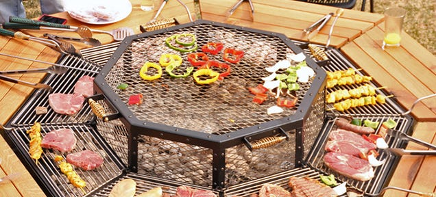 Everyone S The Grillmaster At This Bbq Picnic Table