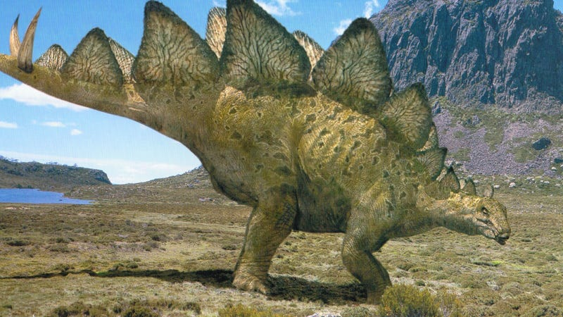 """Illustration for article titled """"Kung Fu"""" Stegosaurus Had Deadly Fighting Moves"""