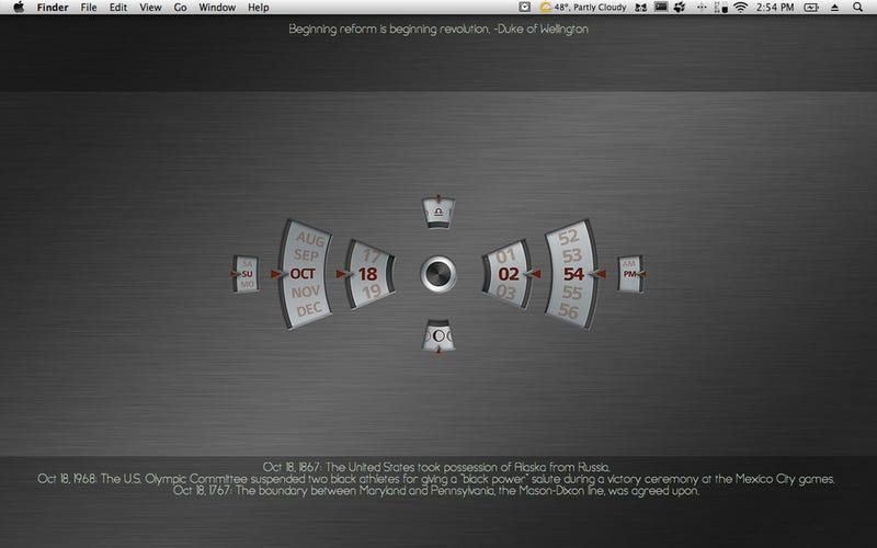 Illustration for article titled The Metal Wallpaper Clock Desktop