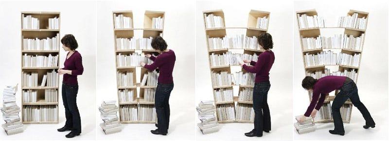 Illustration for article titled Platzhalter Bookshelf Splits To Store Extra Books
