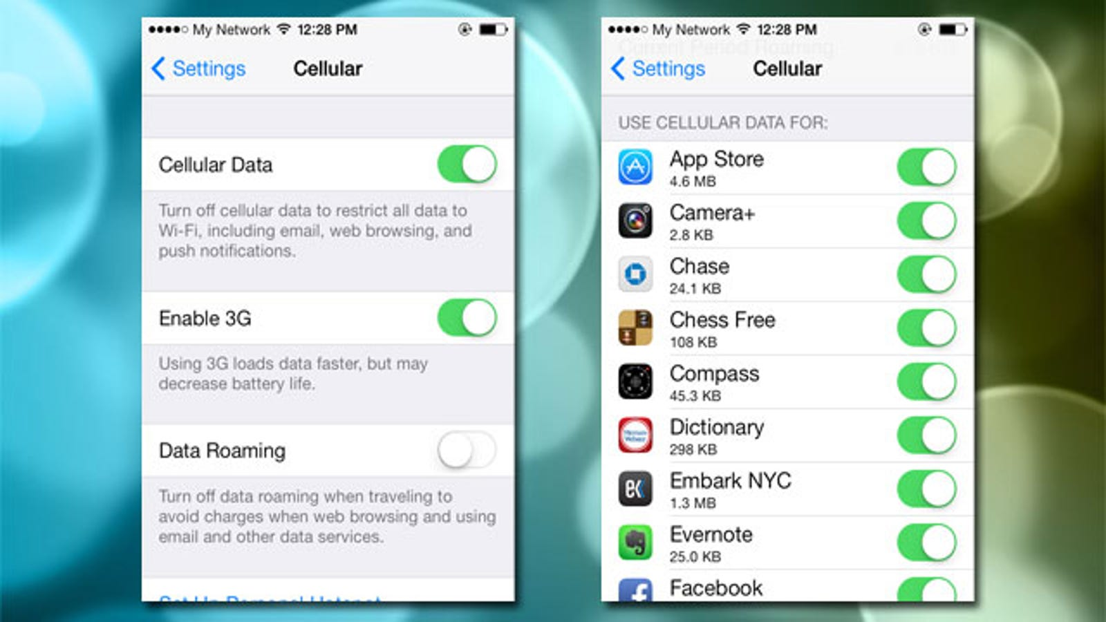 Turn Off Cell Phone Data for Specific Apps in iOS