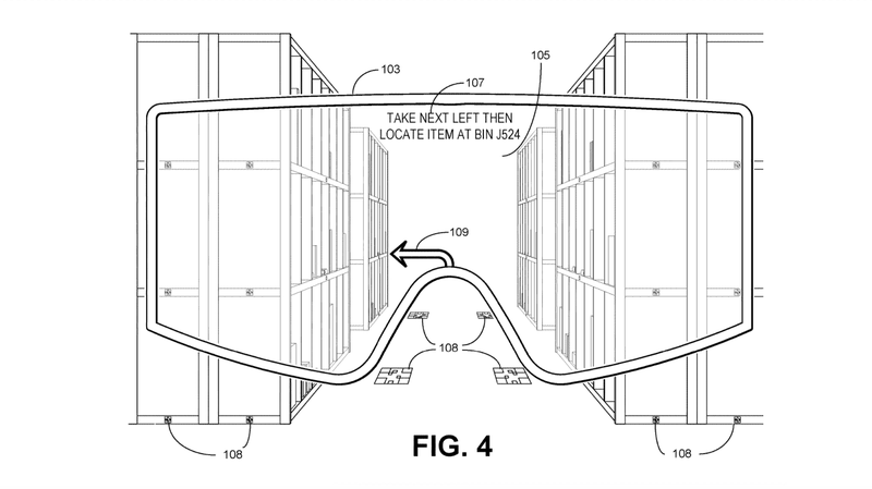 Illustration for article titled Amazon Imagines Future Employee Surveillance With Patent Application for AR Goggles