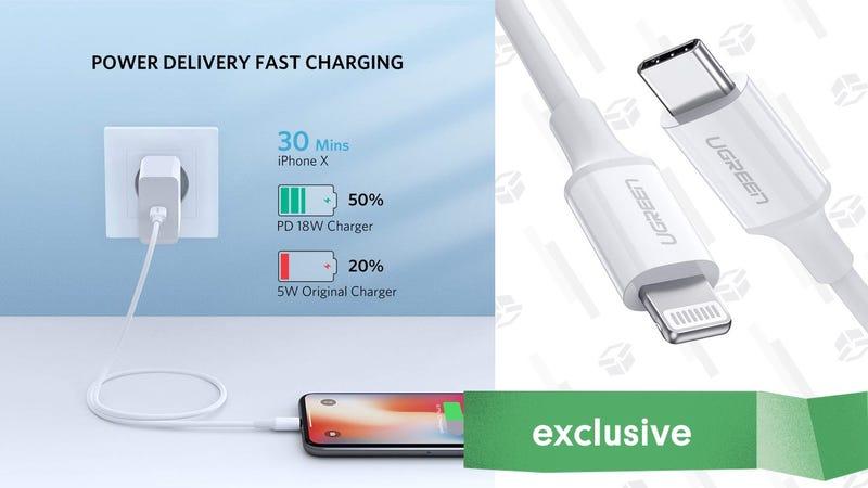 UGREEN 3' MFi-Certified USB-C to Lightning Cable | $9 | Amazon | Promo code UGREEN35