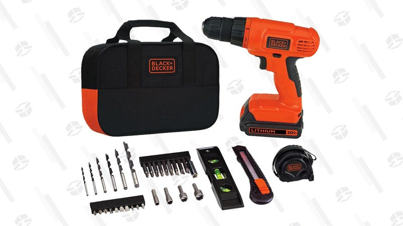 Black & Decker 20V MAX Drill & Home Tool Kit | $52 | Amazon