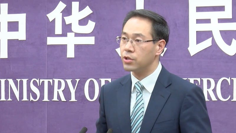 Chinese Ministry of Commerce spokesperson Gao Feng on May 30, 2019