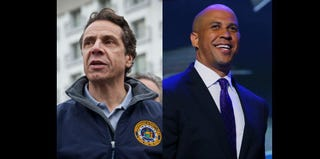 Andrew Cuomo (Andrew Burton/Getty); Cory Booker (Joe Raedle/Getty)