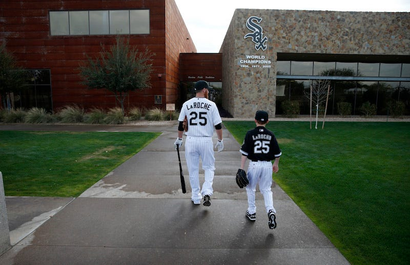 Illustration for article titled Adam LaRoche Retired Because The White Sox Wouldn't Let His Kid Hang Out In The Clubhouse Every Day