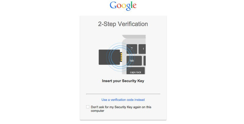 Illustration for article titled You Can Now Protect Your Google Accounts With a Physical Key