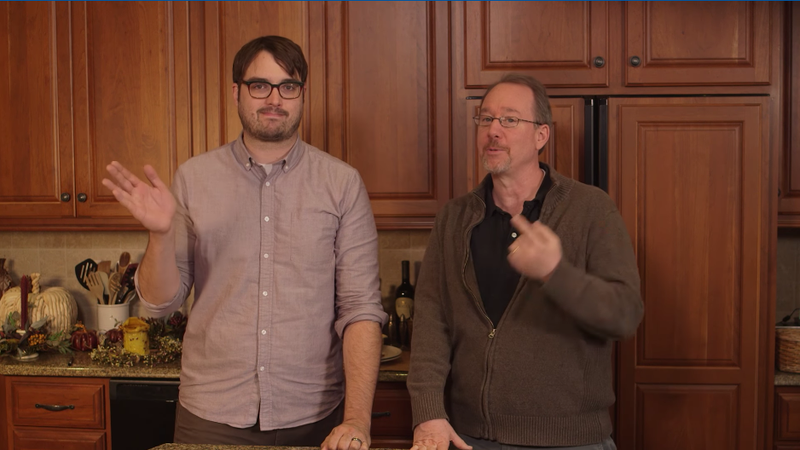 Jonah Ray and Joel Hodgson promoting the Turkey Day Marathon, Shout Factory